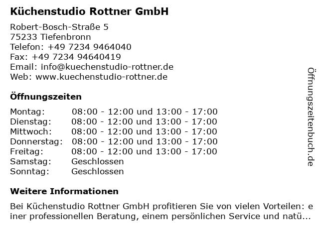 Küchenstudio Rottner in Tiefenbronn: Adresse und Öffnungszeiten