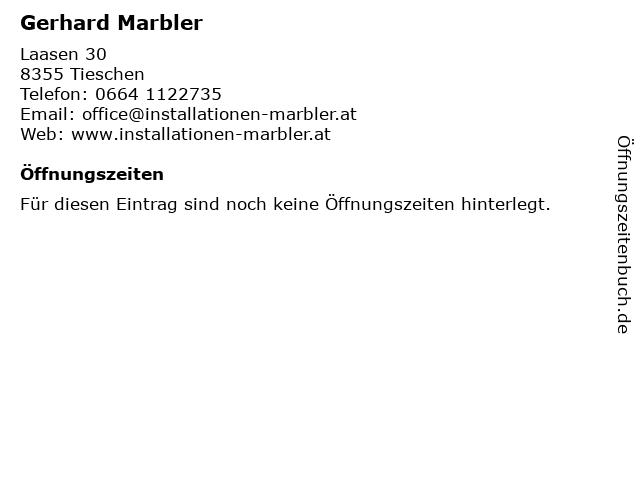 Gerhard Marbler Installationen in Tieschen: Adresse und Öffnungszeiten
