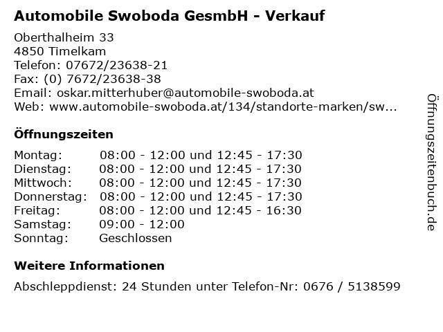 Automobile Service in Timelkam: Adresse und Öffnungszeiten