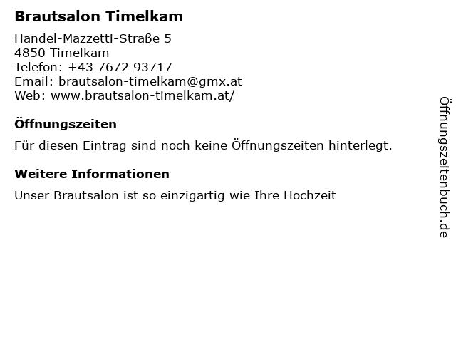 Brautsalon Timelkam in Timelkam: Adresse und Öffnungszeiten