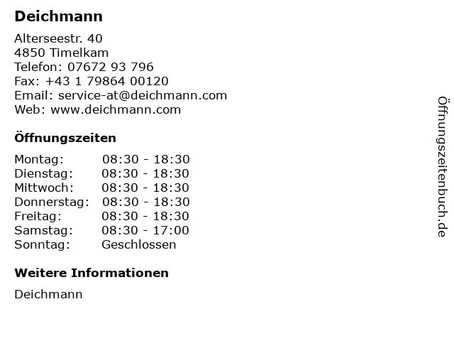 Deichmann in Timelkam: Adresse und Öffnungszeiten