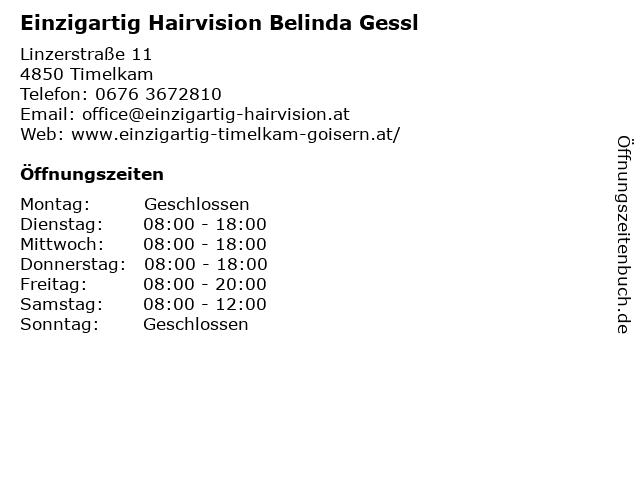 Einzigartig Hairvision Belinda Gessl in Timelkam: Adresse und Öffnungszeiten