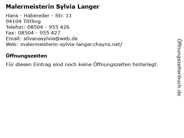Malermeisterin Sylvia Langer in Tittling: Adresse und Öffnungszeiten
