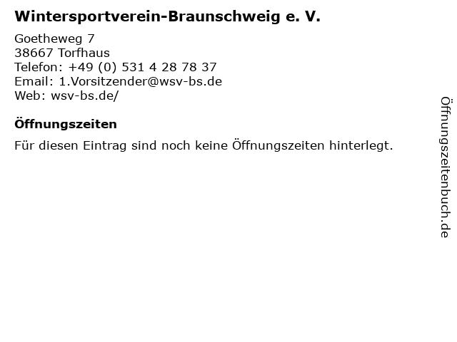 Wintersportverein-Braunschweig e. V. in Torfhaus: Adresse und Öffnungszeiten
