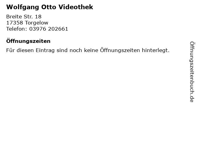 Wolfgang Otto Videothek in Torgelow: Adresse und Öffnungszeiten