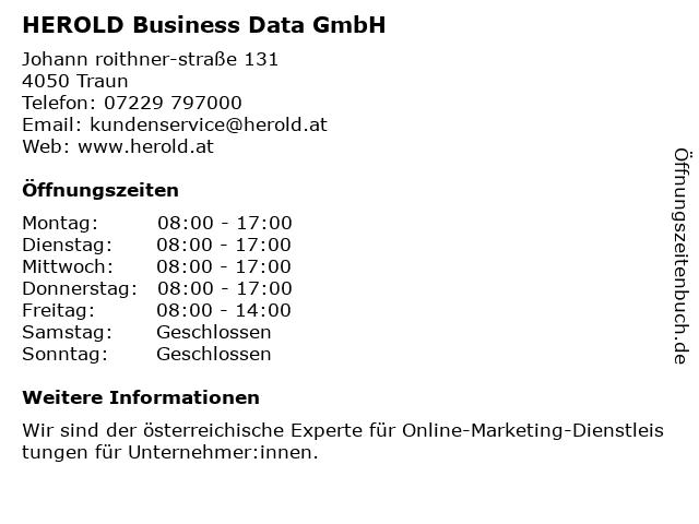 HEROLD Business Data GmbH in Traun: Adresse und Öffnungszeiten