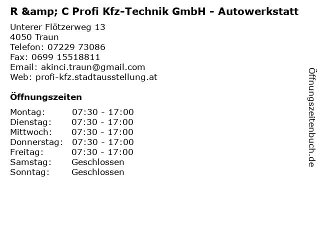 R & C Profi Kfz-Technik GmbH - Autowerkstatt in Traun: Adresse und Öffnungszeiten