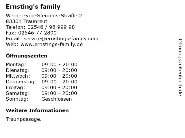 Ernsting's family in Traunreut: Adresse und Öffnungszeiten