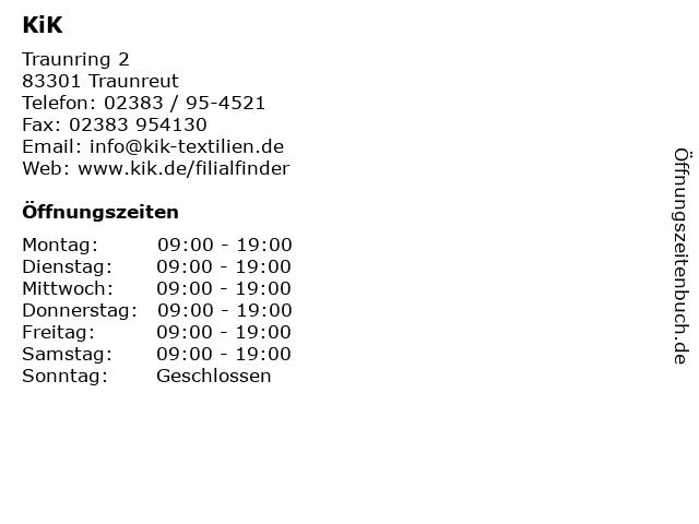 KiK in Traunreut: Adresse und Öffnungszeiten