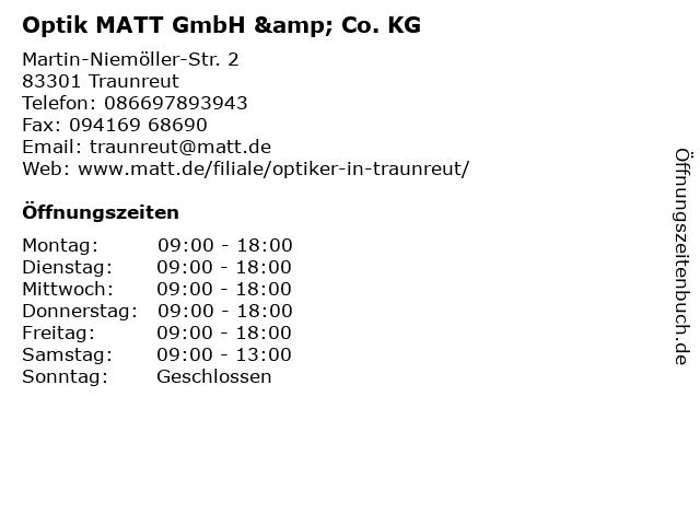 Optik MATT GmbH & Co. KG in Traunreut: Adresse und Öffnungszeiten