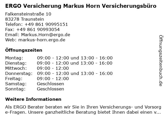 ERGO Versicherung Markus Horn Versicherungsbüro in Siegsdorf: Adresse und Öffnungszeiten