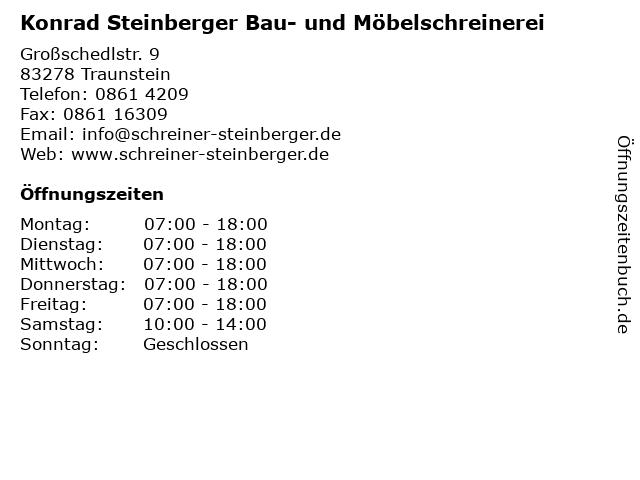 Konrad Steinberger Bau- und Möbelschreinerei in Traunstein: Adresse und Öffnungszeiten