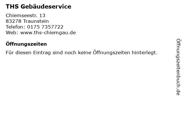 THS Gebäudeservice in Traunstein: Adresse und Öffnungszeiten