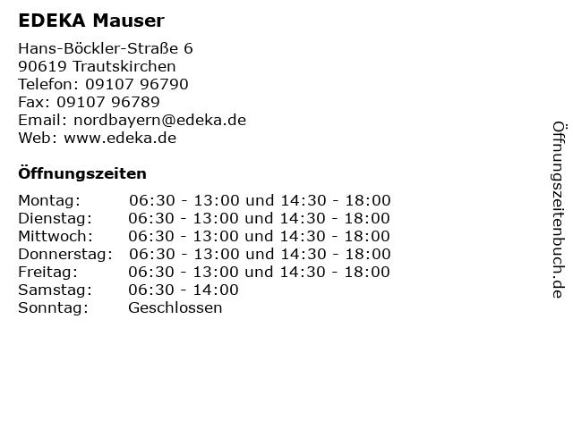 EDEKA Mauser in Trautskirchen: Adresse und Öffnungszeiten