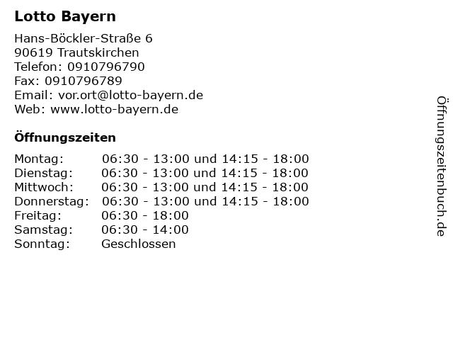 Lotto Bayern in Trautskirchen: Adresse und Öffnungszeiten