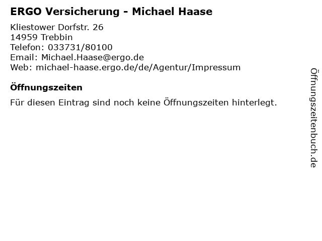 ERGO Versicherung - Michael Haase in Trebbin: Adresse und Öffnungszeiten