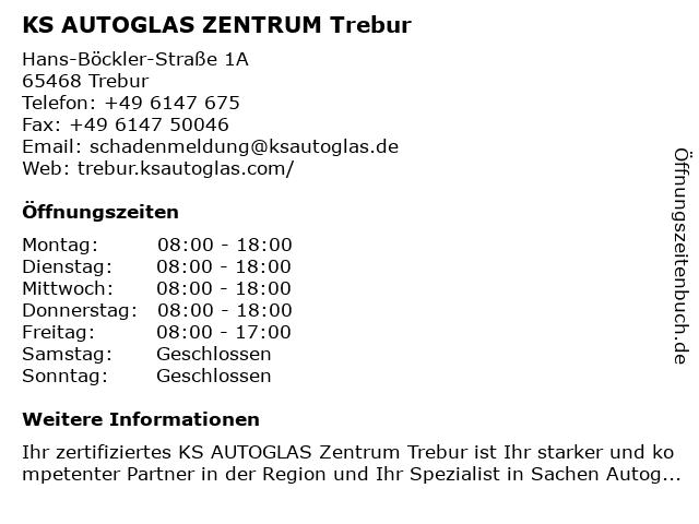 KS AUTOGLAS ZENTRUM Trebur in Trebur: Adresse und Öffnungszeiten