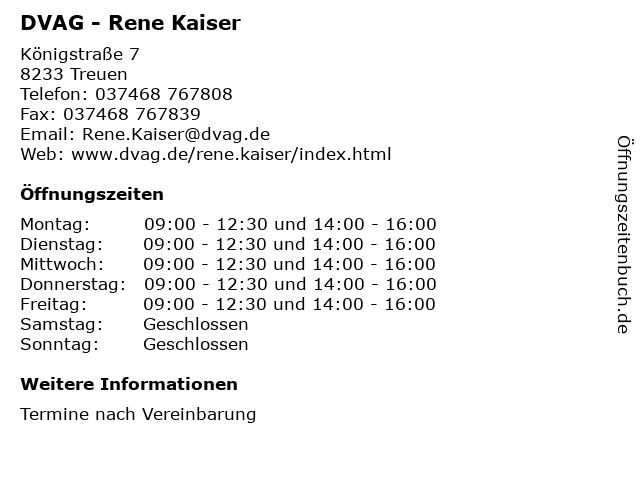 DVAG - Rene Kaiser in Treuen: Adresse und Öffnungszeiten