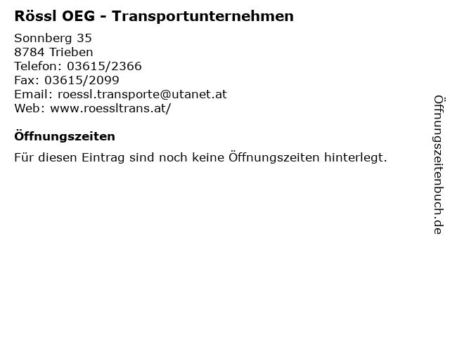 Rössl OEG - Transportunternehmen in Trieben: Adresse und Öffnungszeiten