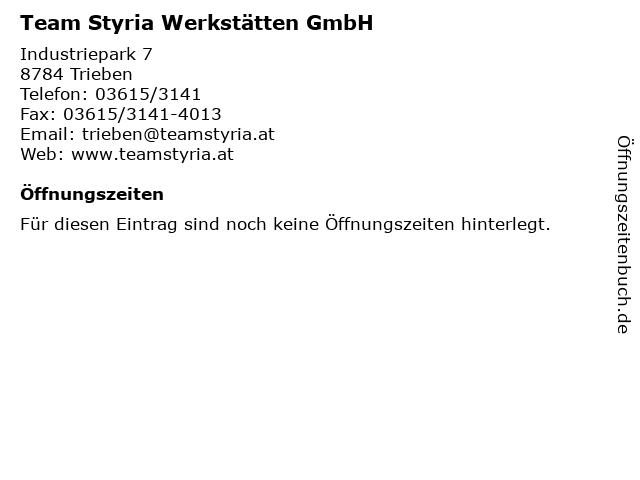 Team Styria Werkstätten GmbH in Trieben: Adresse und Öffnungszeiten