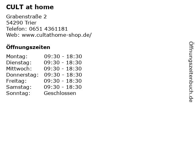 CULT at home in Trier: Adresse und Öffnungszeiten