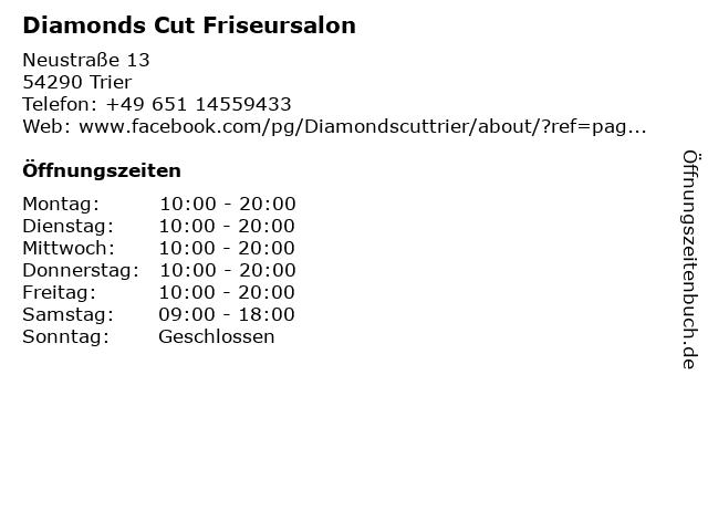 Diamonds Cut Friseursalon in Trier: Adresse und Öffnungszeiten