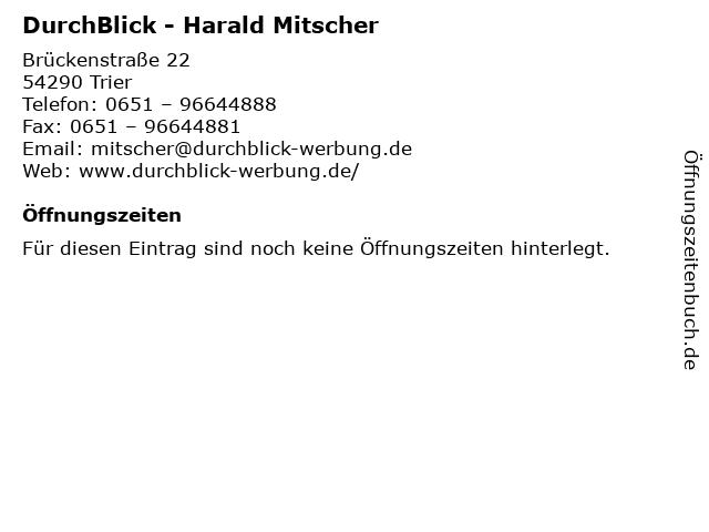 DurchBlick - Harald Mitscher in Trier: Adresse und Öffnungszeiten