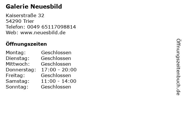 Galerie Neuesbild in Trier: Adresse und Öffnungszeiten