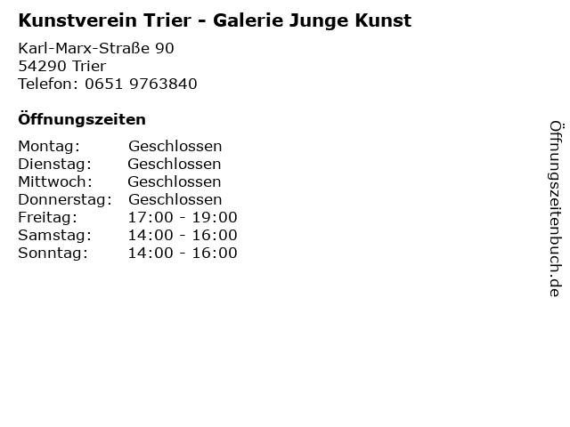 Kunstverein Trier - Galerie Junge Kunst in Trier: Adresse und Öffnungszeiten