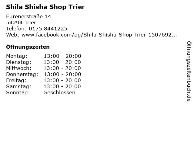 shisha laden trier