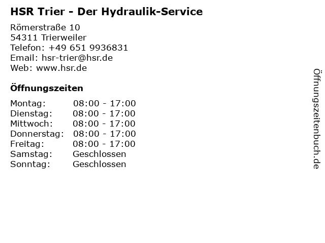 HSR Der Hydraulik-Service in Trierweiler: Adresse und Öffnungszeiten