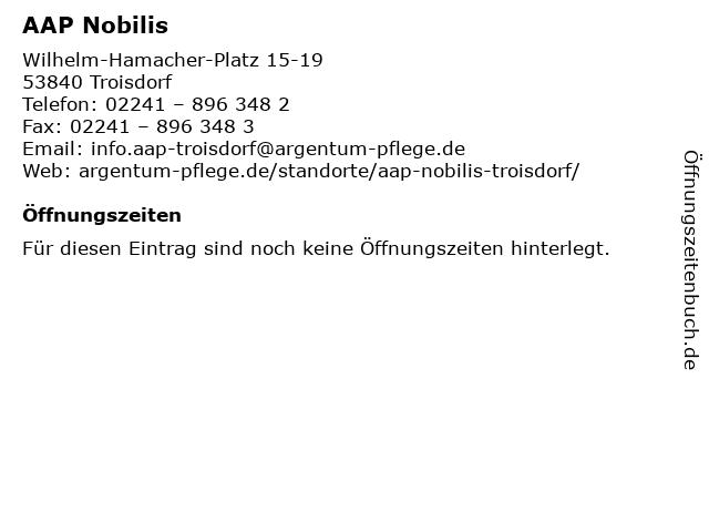 AAP Nobilis in Troisdorf: Adresse und Öffnungszeiten