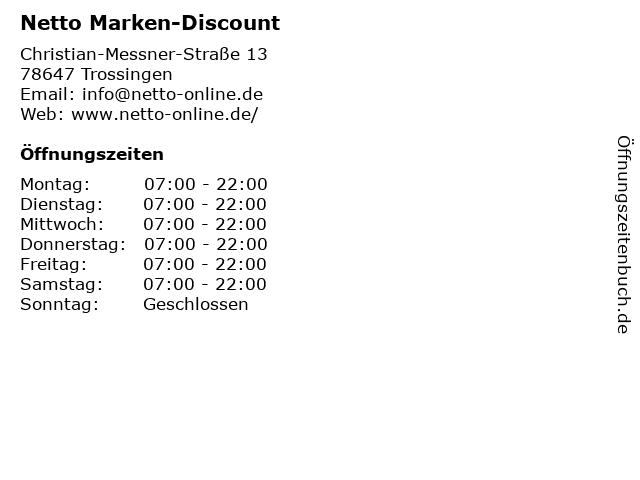 Netto Filiale in Trossingen: Adresse und Öffnungszeiten