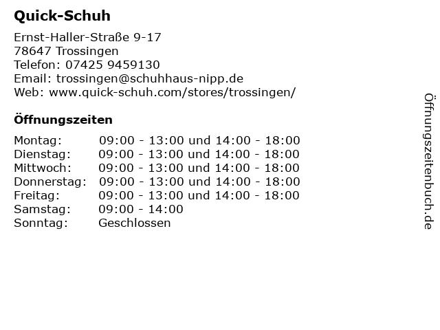 Quick-Schuh in Trossingen: Adresse und Öffnungszeiten