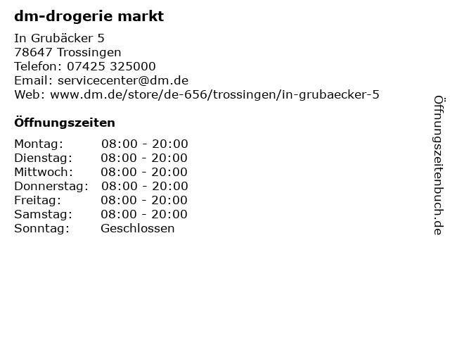 dm-drogerie markt in Trossingen: Adresse und Öffnungszeiten