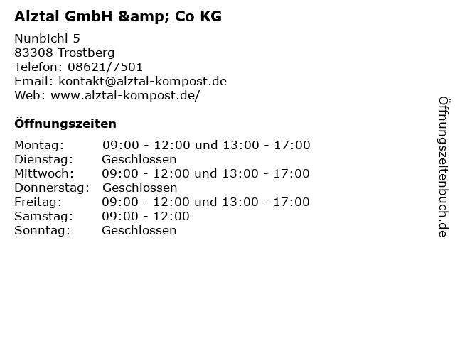 Alztal GmbH & Co KG in Trostberg: Adresse und Öffnungszeiten
