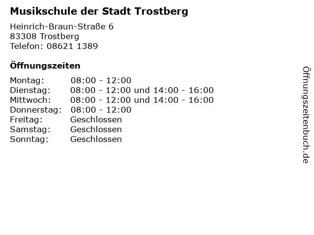 Musikschule der Stadt Trostberg in Trostberg: Adresse und Öffnungszeiten