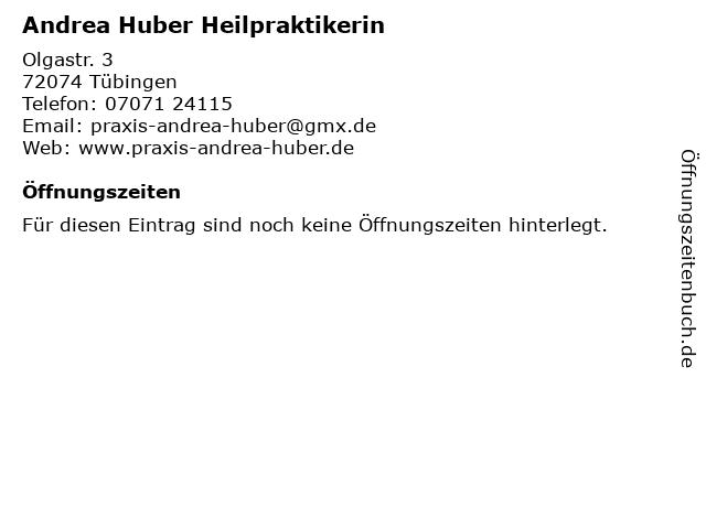 Andrea Huber Heilpraktikerin in Tübingen: Adresse und Öffnungszeiten