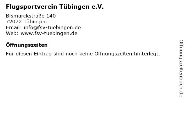 Flugsportverein Tübingen e.V. in Tübingen: Adresse und Öffnungszeiten