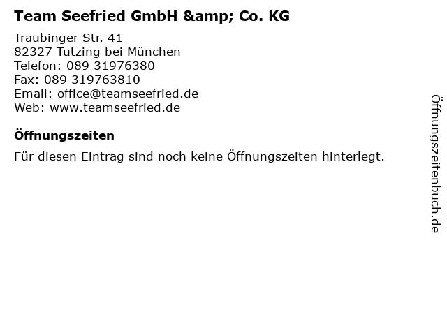 Team Seefried GmbH & Co. KG in Tutzing bei München: Adresse und Öffnungszeiten