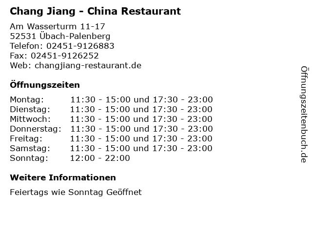 Chang Jiang - China Restaurant in Übach-Palenberg: Adresse und Öffnungszeiten