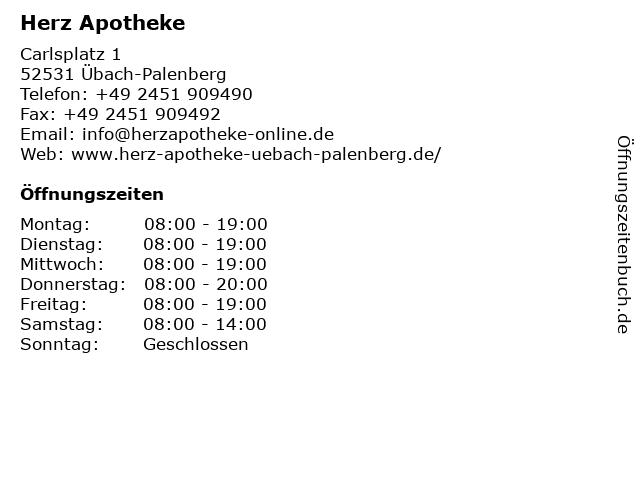 Herz-Apotheke in Übach-Palenberg: Adresse und Öffnungszeiten