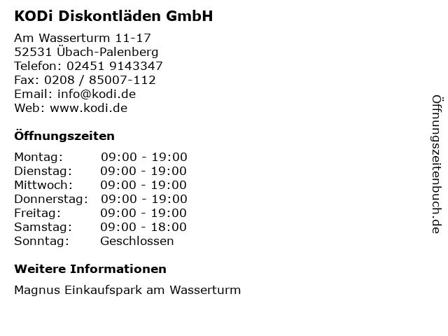KODi Diskontläden GmbH in Übach-Palenberg: Adresse und Öffnungszeiten
