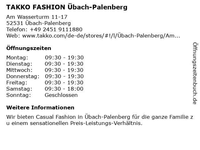 Takko Fashion in Übach-Palenberg: Adresse und Öffnungszeiten