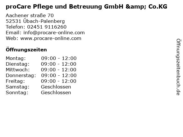 pro retis - Mobiler Pflegedienst in Übach-Palenberg: Adresse und Öffnungszeiten