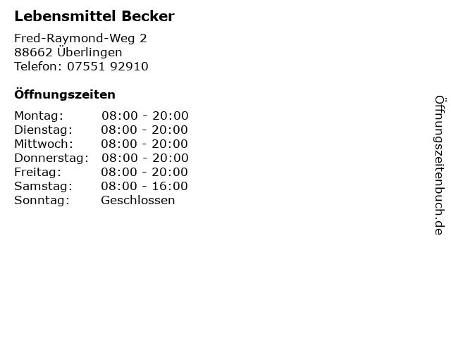 Lebensmittel Becker in Überlingen: Adresse und Öffnungszeiten