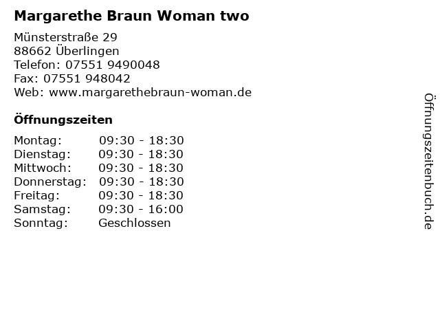 Margarethe Braun Woman two in Überlingen: Adresse und Öffnungszeiten