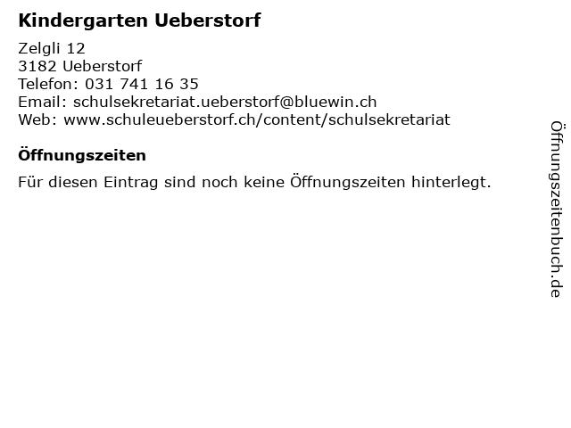 Kindergarten Ueberstorf in Ueberstorf: Adresse und Öffnungszeiten