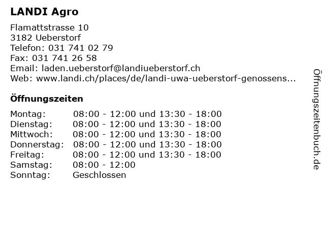 LANDI Agro in Ueberstorf: Adresse und Öffnungszeiten