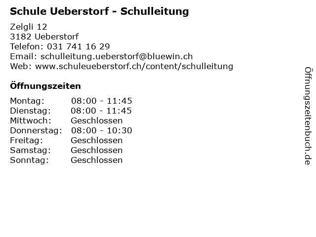 Schule Ueberstorf - Schulleitung in Ueberstorf: Adresse und Öffnungszeiten